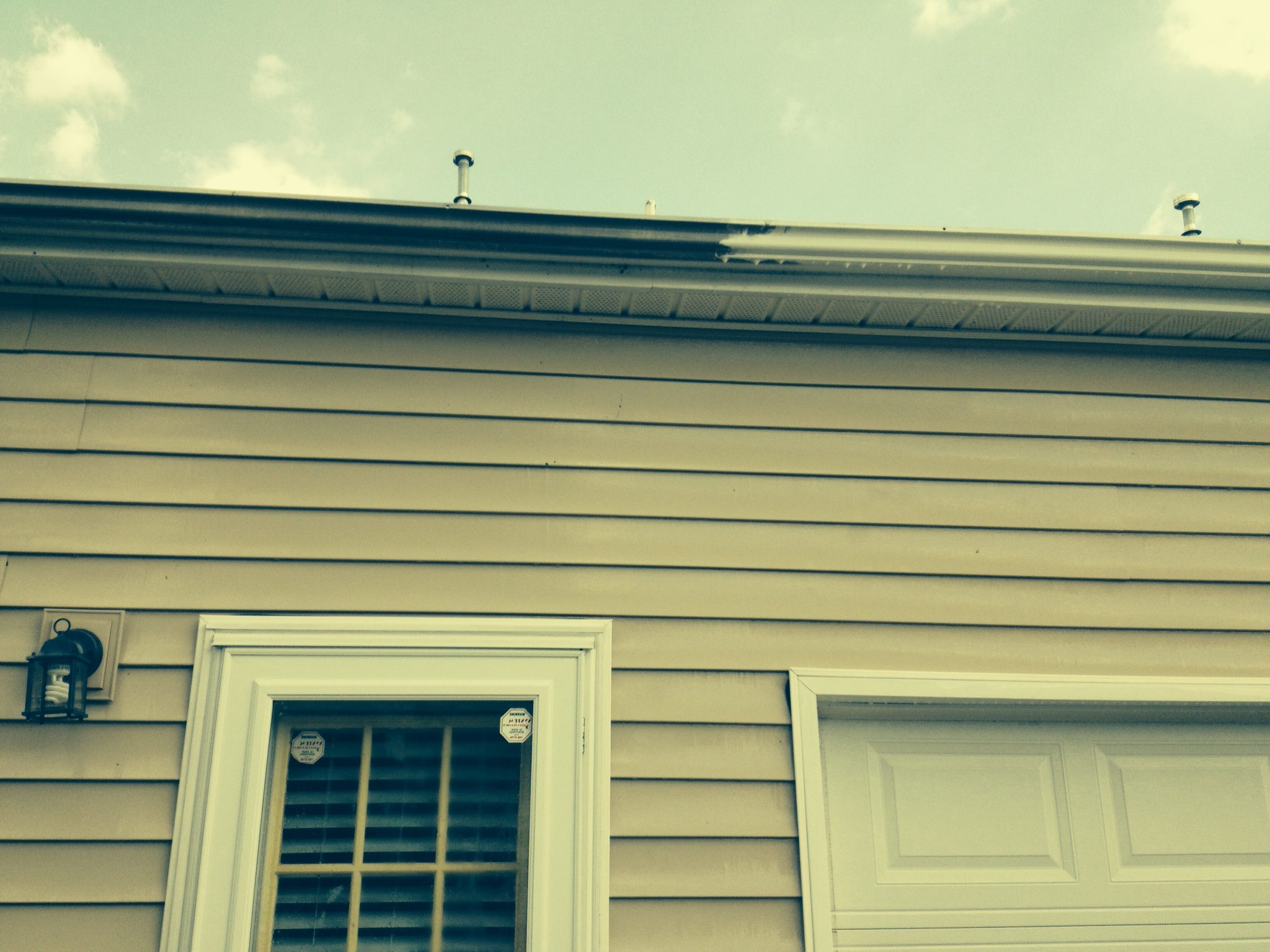 Gutter scrubbed,your house may vary,this one was extremely dirty,but I use the same process.